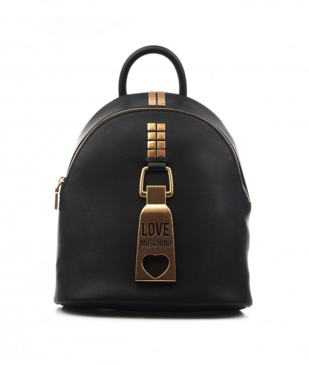 Love Moschino Backpack with logo application black