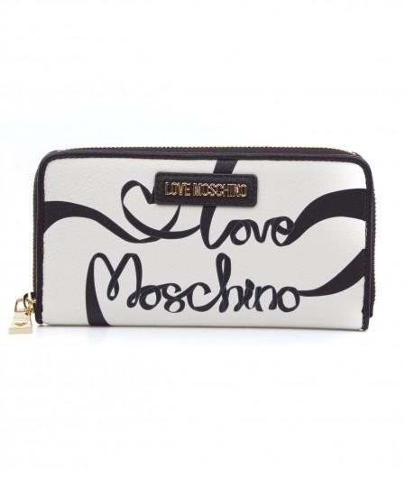 Love Moschino Brieftasche mit Logomotiv Weiß