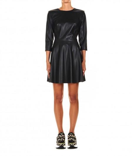 Liu Jo Faux leather midi dress black