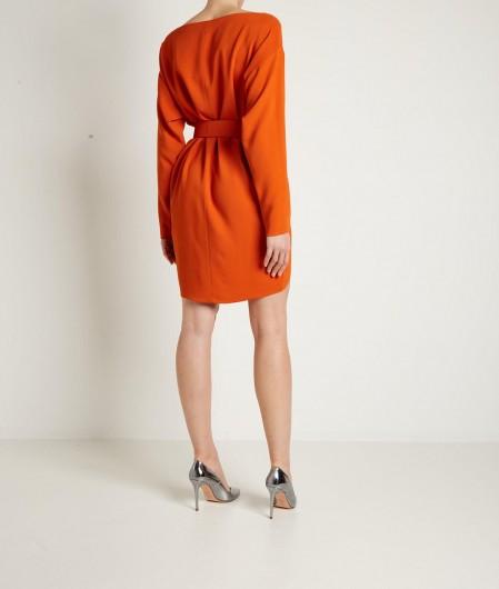 Dsquared2 Dress with asymmetric hemline orange