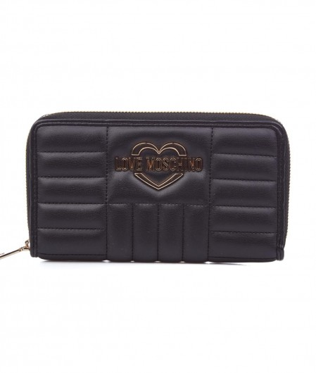 Love Moschino Quilted wallet with logo black