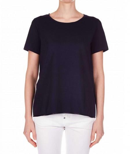 Oblo Unique Ausgestelltes T-Shirt Dunkelblau