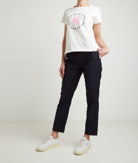 Kaos T-Shirt mit Logo Weiß