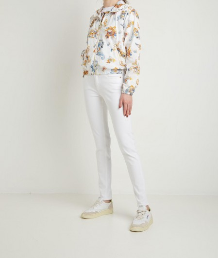 Versace Jeans Couture Jacket with Cameo Print white