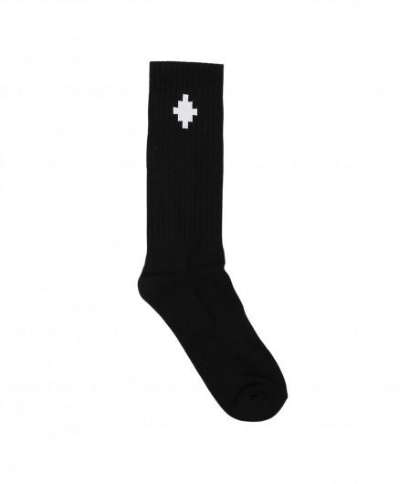 Marcelo Burlon Cross Sideway Midhigh Socks Schwarz