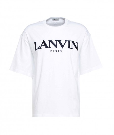 Lanvin T-Shirt with logo embroidery white