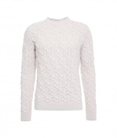 Paolo Pecora  Knitted sweater panna