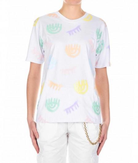Chiara Ferragni T-shirt con stampa bianco