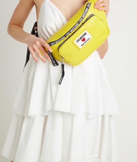 "Love Moschino Belt bag ""Sporty Label"" yellow"