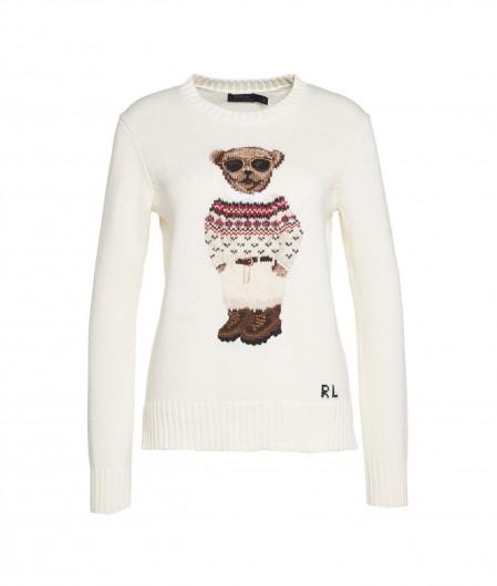 Polo Ralph Lauren Sweater mit Teddy-Stickerei Creme