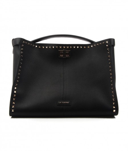 La Carrie Shopper with rivets black