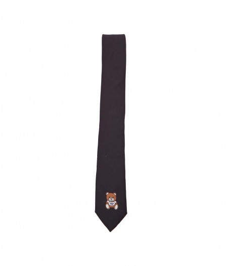 Moschino Tie with logo print black