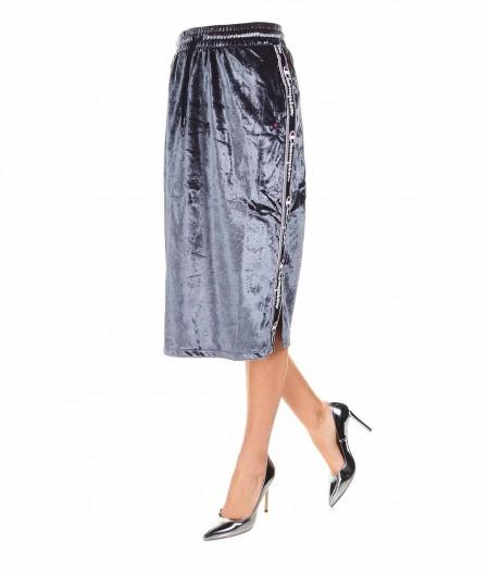 Champion Midi skirt in velvet olive