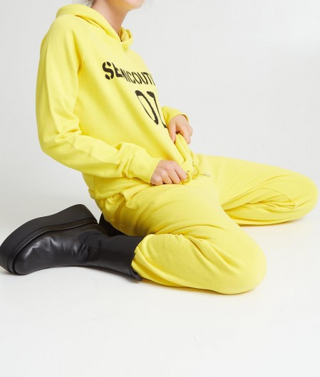 Semicouture Hoodie with logo yellow