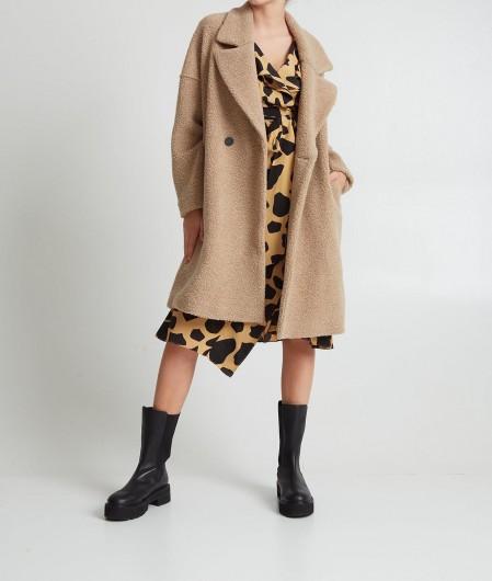 """Diane von Furstenberg Wrap-Dress """"Eden"""" Camel"""