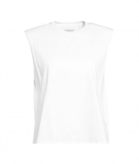 Ballantyne Top with padded shoulders white
