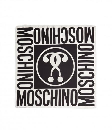 Moschino Foulard with logo white
