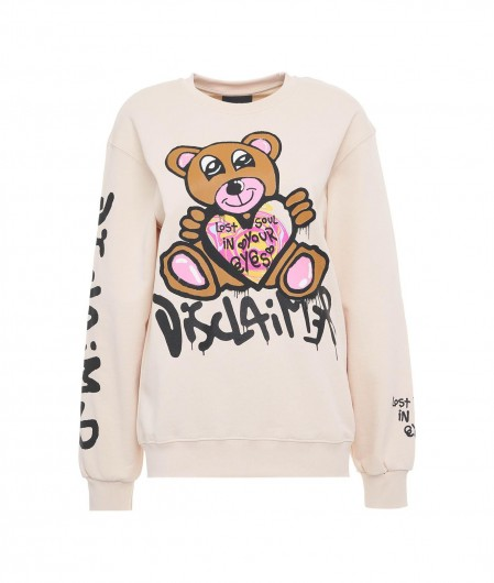 Disclaimer Sweater with logo print nude