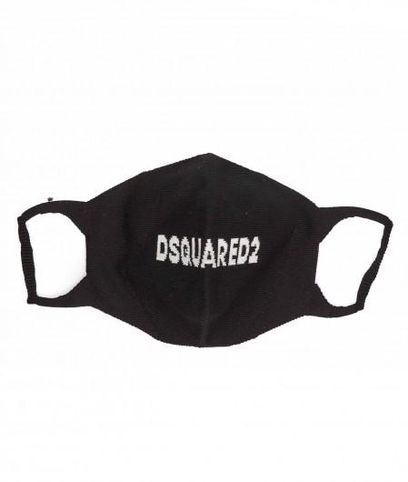 Dsquared2 Gestrickter Mundschutz Schwarz
