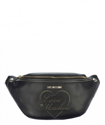 Love Moschino Bum bag in faux leather black